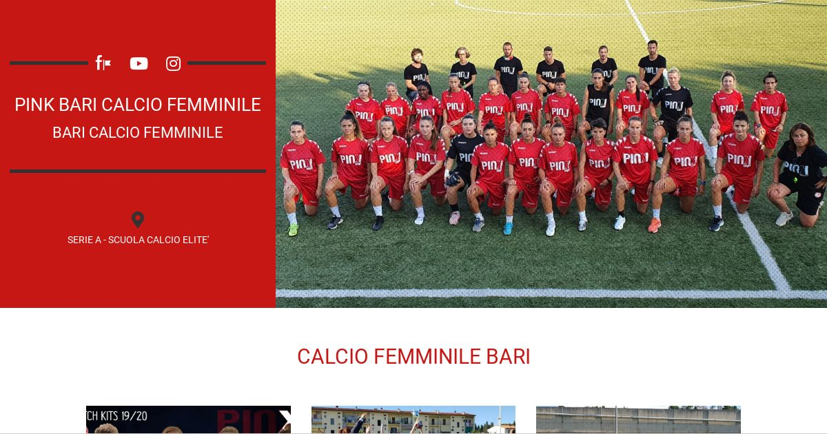 Calendario Calcio Femminile Serie B.Pink Bari Calcio Femminile