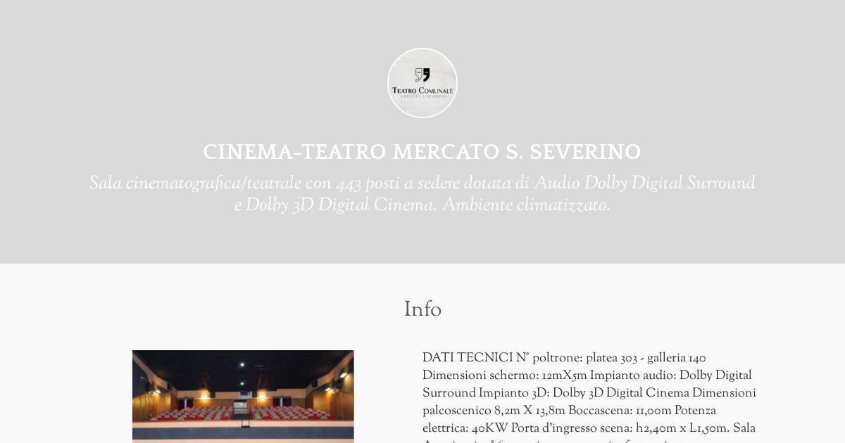 Dimensioni Poltrone Cinema.Cinema Teatro Mercato S Severino