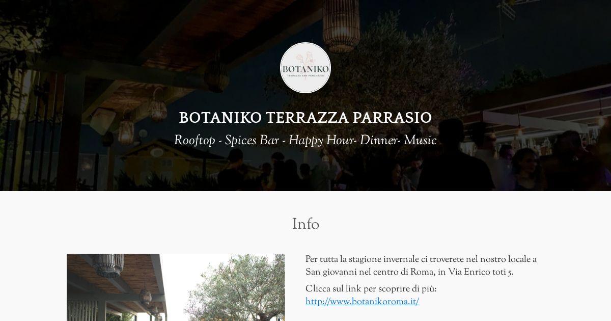 Botaniko Terrazza Parrasio